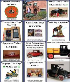 Buying vintage german tin toys buying antique american tin toys buying toy collections Old toy collection for sale