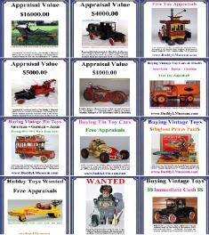 buying vintage toy collections free consultations, buddy l museum buying antique toy collections highest prices paid Rare toy collections wanted